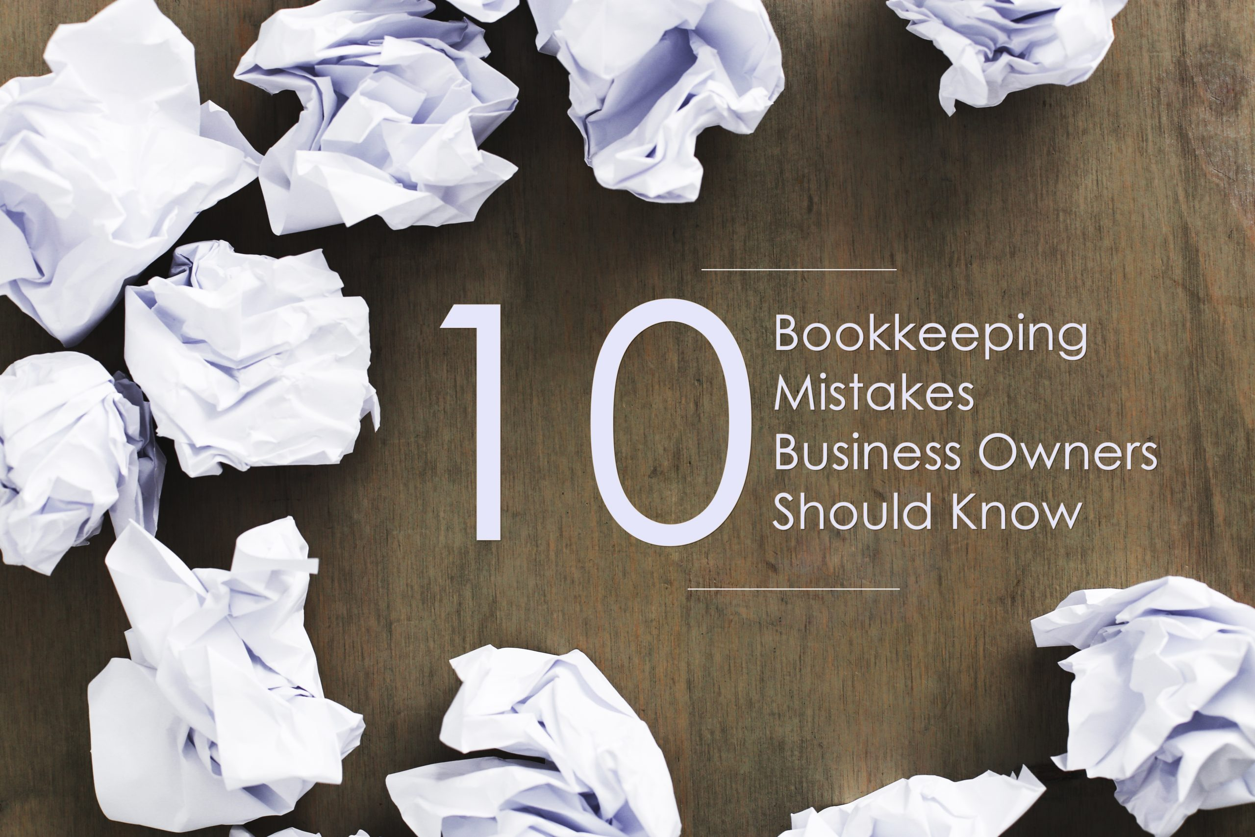 bookkeeping common mistakes