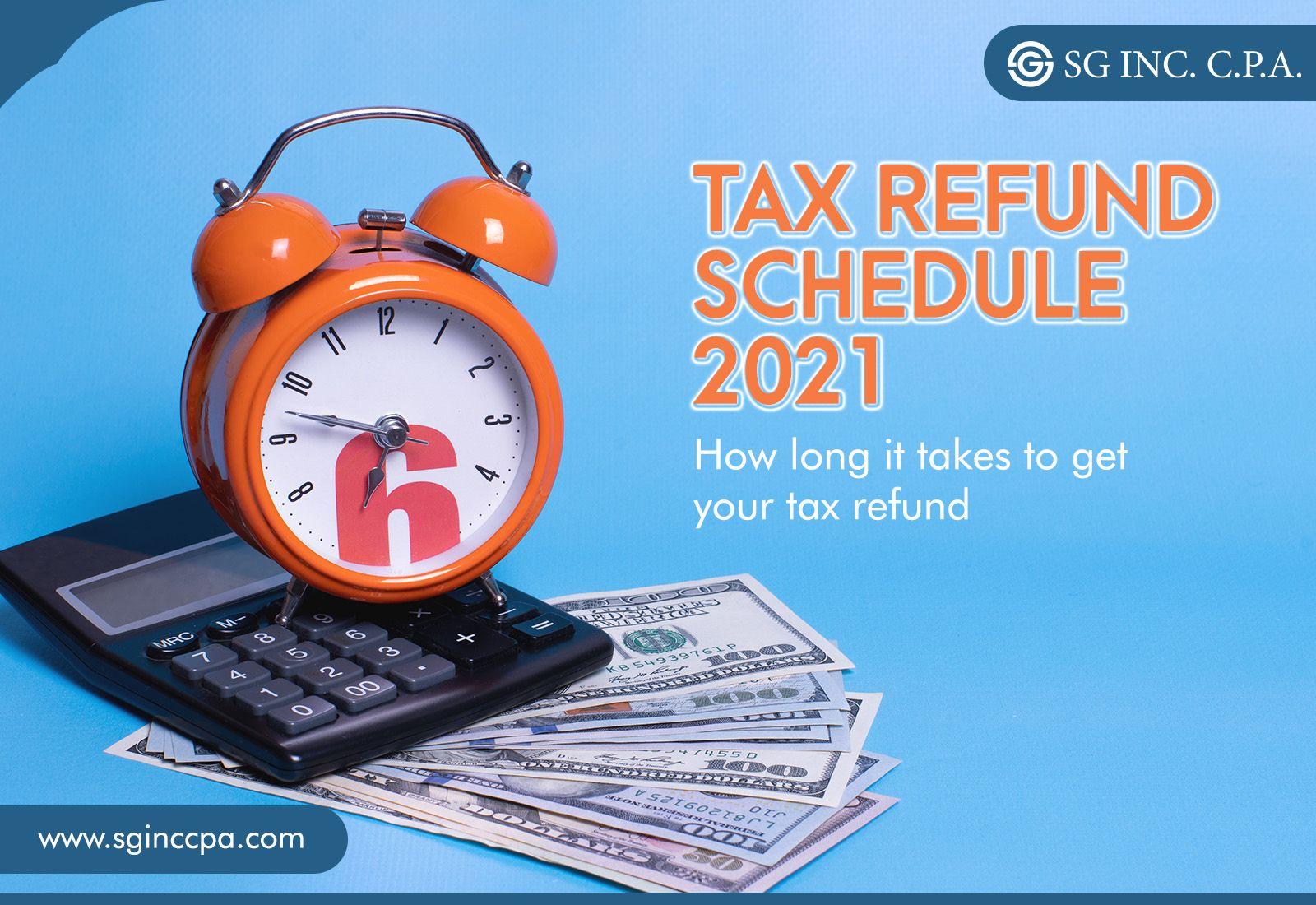 Tax refund schedule 2021